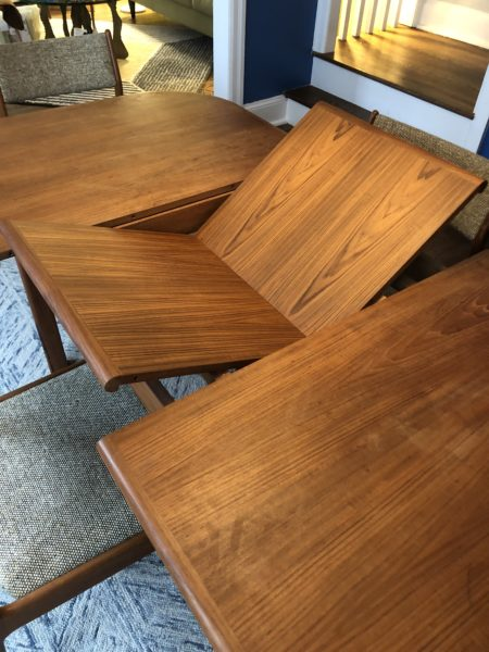 Butterfly Leaf Danish Dining Table
